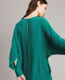 "Silk blend tunic dress ""Pepper Green"" Woman 191TP2147-06"