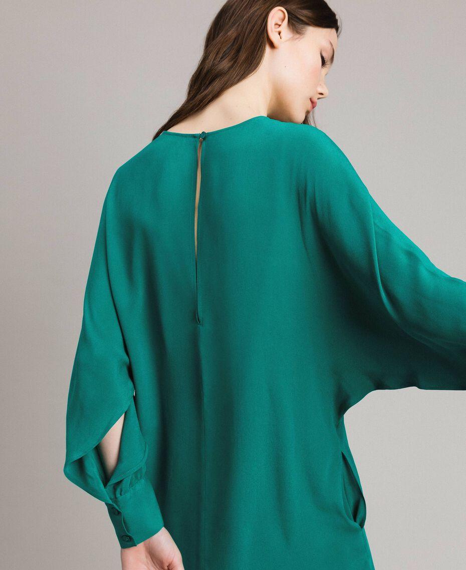 """Silk blend tunic dress """"Pepper Green"""" Woman 191TP2147-06"""