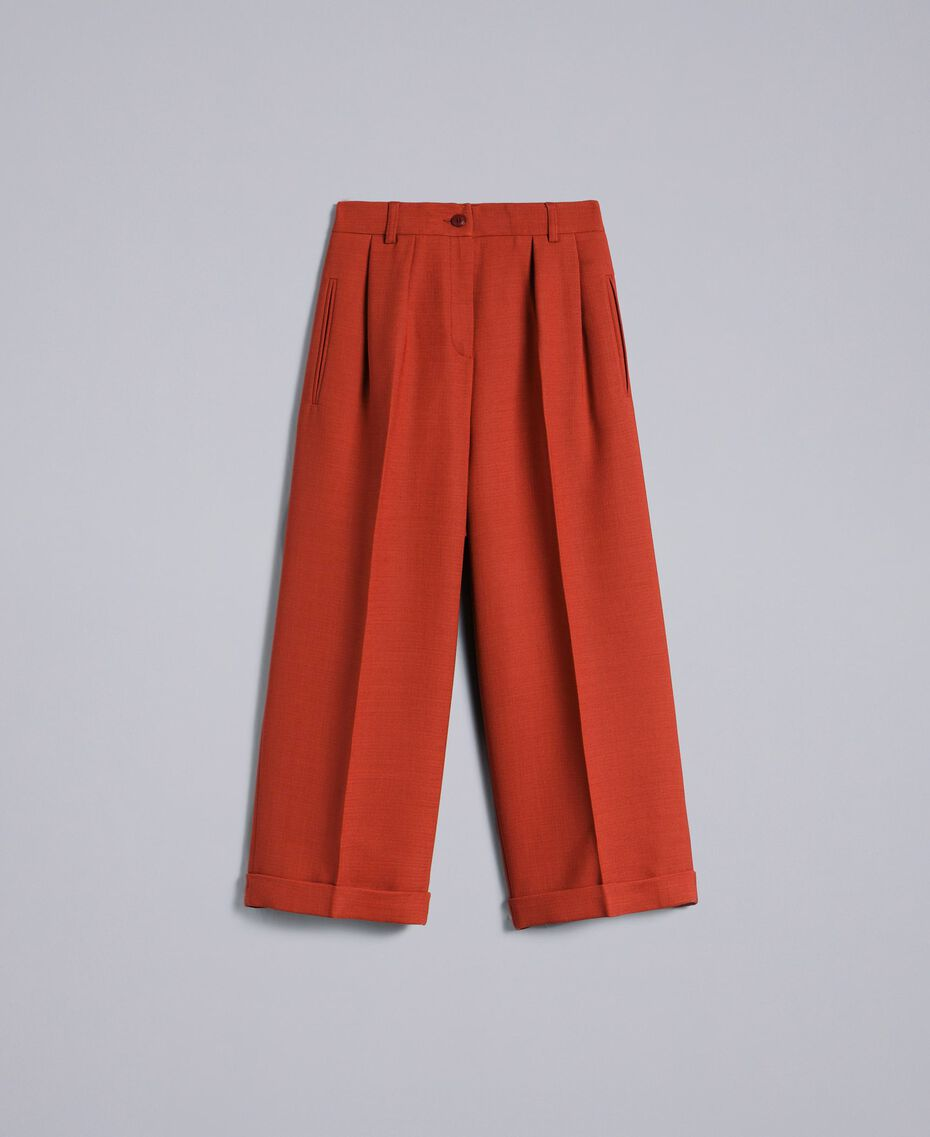 Pantaloni cropped in lana bistretch Bruciato Donna TA8271-0S