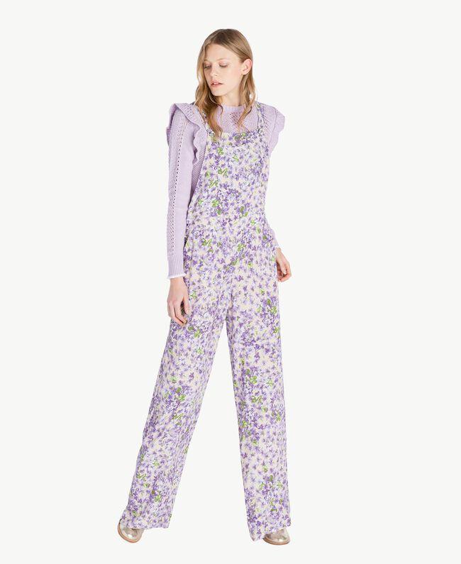 Salopette imprimée Imprimé Violettes All-Over Femme PS821R-01