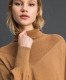 Maxi pull en laine et cachemire Beige «Séquoia» Femme 192ST3152-04