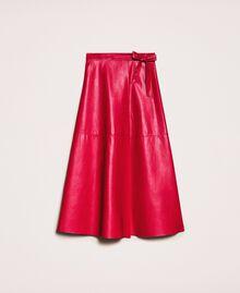 Long overlapping skirt Venetian Red Woman 201MP2042-0S