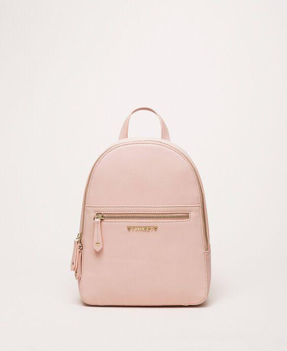 Rucksack aus Lederimitat mit Tasche