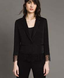 Lace blazer Black Woman 191TP2731-01