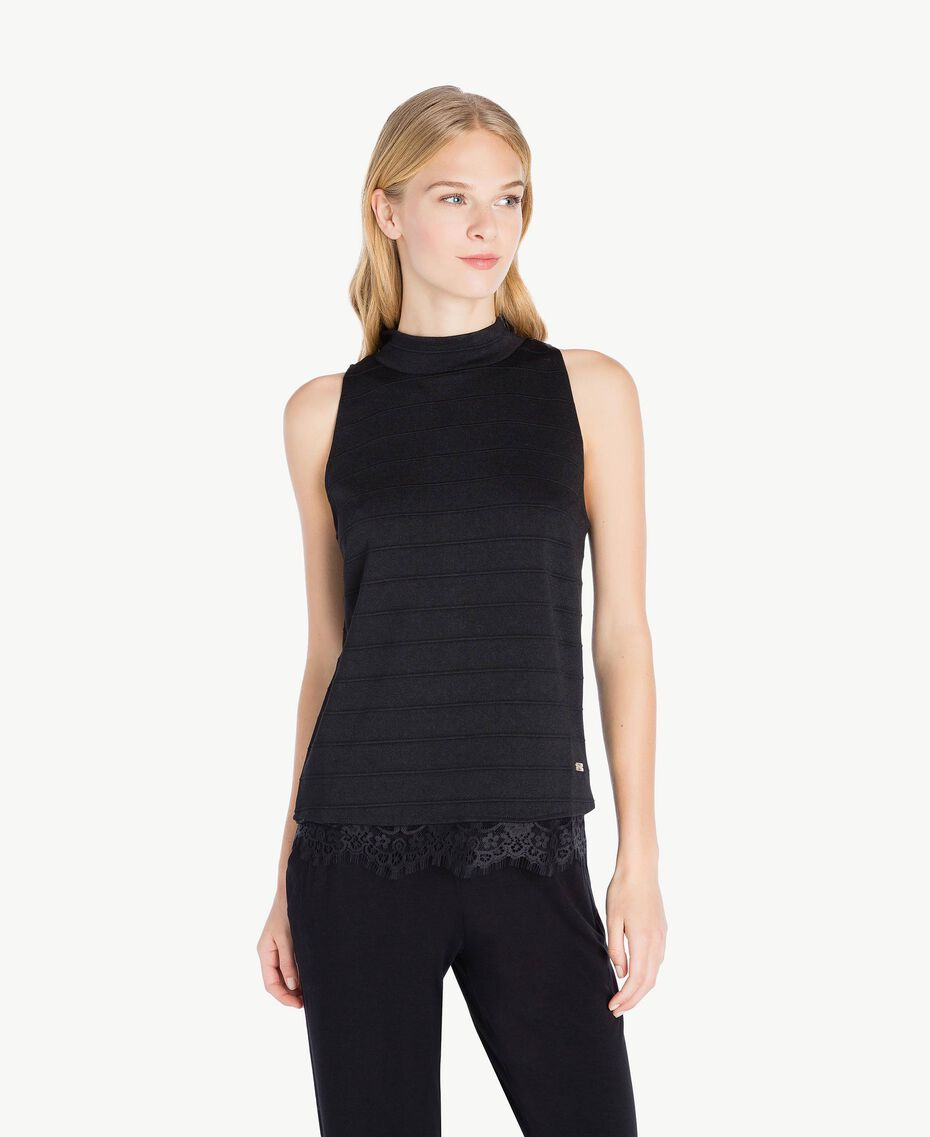 Lace top Black Female IA7SHH-02
