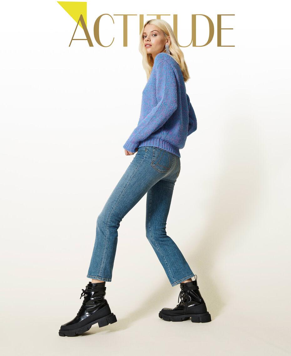 """Jeans flare 'Malachite' Blu """"Denim Medio"""" Donna 212AP2212-01"""