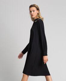 Robe chemisier avec sequins Noir Femme 192ST209C-02