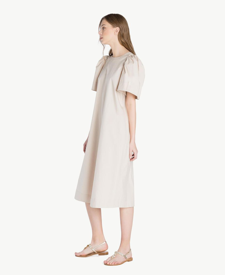 Langes Kleid aus Popeline Dune Frau TS821Q-02