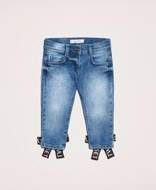 "Skinny jeans with logo ""Mid Denim"" Blue Child 201GB2371-01"