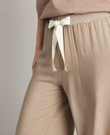 """Pantalon palazzo en viscose Gris """"Poussière Grise"""" Femme 191LL35SS-04"""