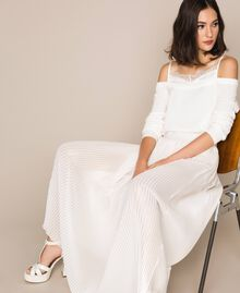 Laminated pleated long skirt Ivory Woman 201LB22LL-0T