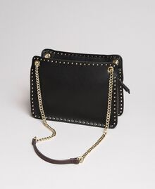 """Faux leather shoulder bag with studs """"Surreal Pink"""" Woman 191MA7141-04"""