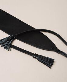 Cinturón de piel con borlas Cuero Mujer 999TA4320-02