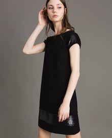 Kleid mit Pailletten Schwarz Frau 191LB22NN-03