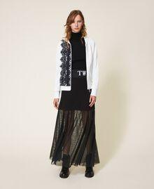 Scalloped lace sweatshirt White Woman 202LI2NHH-0T