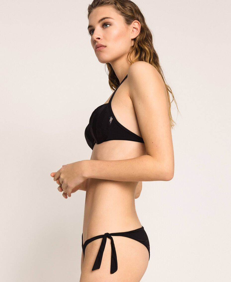 Push-up bikini top with sequins Black Woman 201LBMC44-02