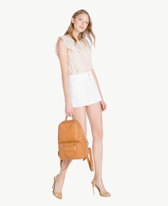 Shorts aus Baumwolle Weiß Frau TS82GC-05
