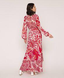 Jupe en crêpe georgette imprimé paisley Imprimé Paisley Rouge «Lave» / Rose«Boutons de Fleurs» Femme 201TP2535-03
