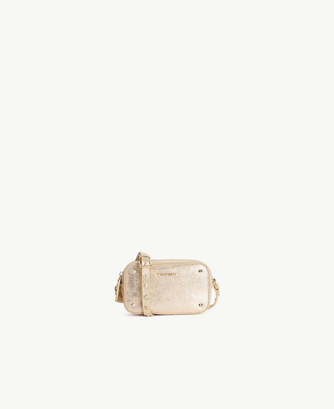 TWINSET Laminated shoulder bag Free Light Gold Woman OS8TBN-01