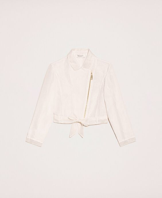 Organza jacket with bow