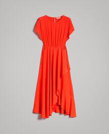 Robe longue en soie mélangée Rouge Grenadine Femme 191TT2079-0S