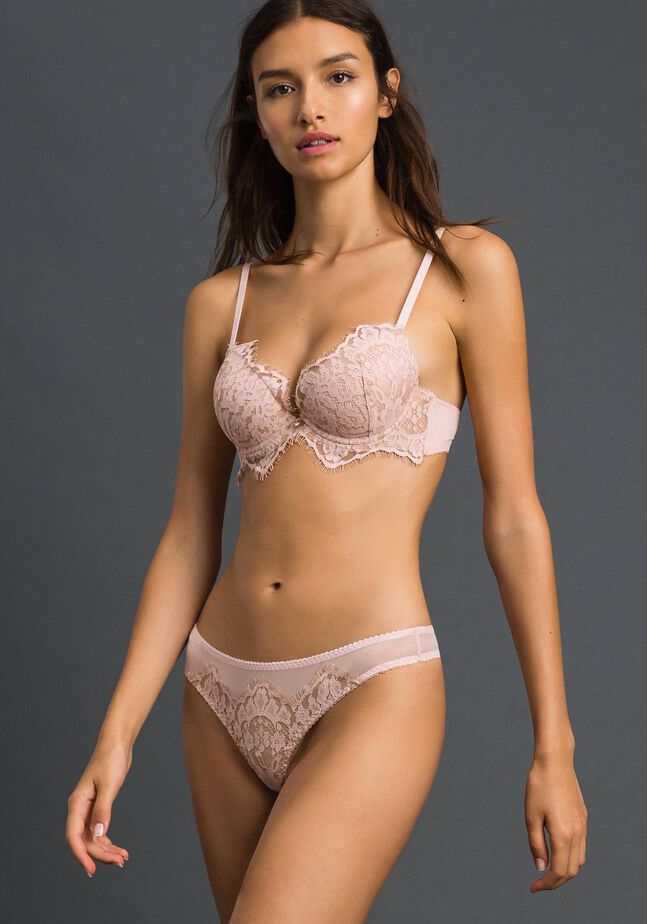 Tulle and lace G-string