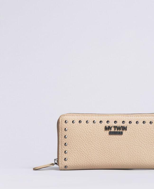 Portafoglio in similpelle con borchie Tortora Donna VA8PAJ-01