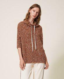 Pull en tweed Rouge Terre cuite Femme 202LI3PGG-01
