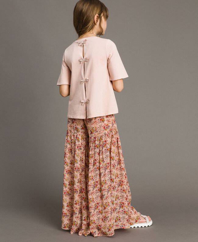 Jersey T-shirt with embroidery Blossom Pink Child 191GJ2032-03
