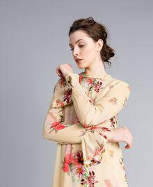 """Mini floral print georgette dress """"Tea Garden"""" Pink Print Woman PA8271-04"""