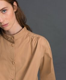 Long poplin shirt with gatherings White Woman 192ST2071-05
