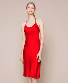 Satin slip Pomegranate Red Woman 201LL23YY-02