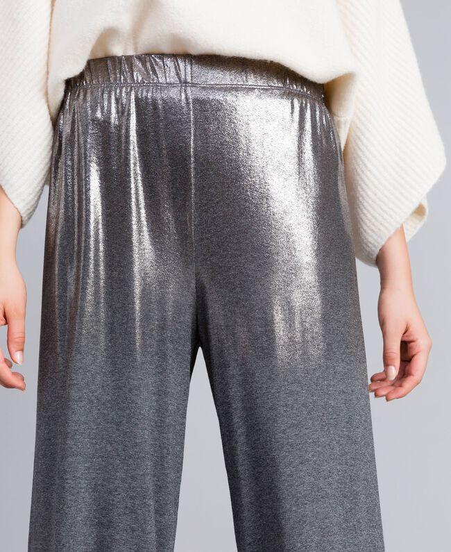 Pantalon palazzo en jersey Gris moyen chiné Femme IA81KK-04