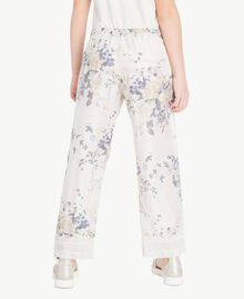 Flowers print trousers Flowers Print / Light Smoke Grey Child GS82E2-04