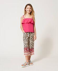 Pantalon avec imprimé animalier Imprimé Léopard & Cachemire Enfant 211GJ2249-01