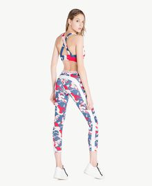 "Printed leggings ""Camouflower"" Print Woman LS86JJ-04"