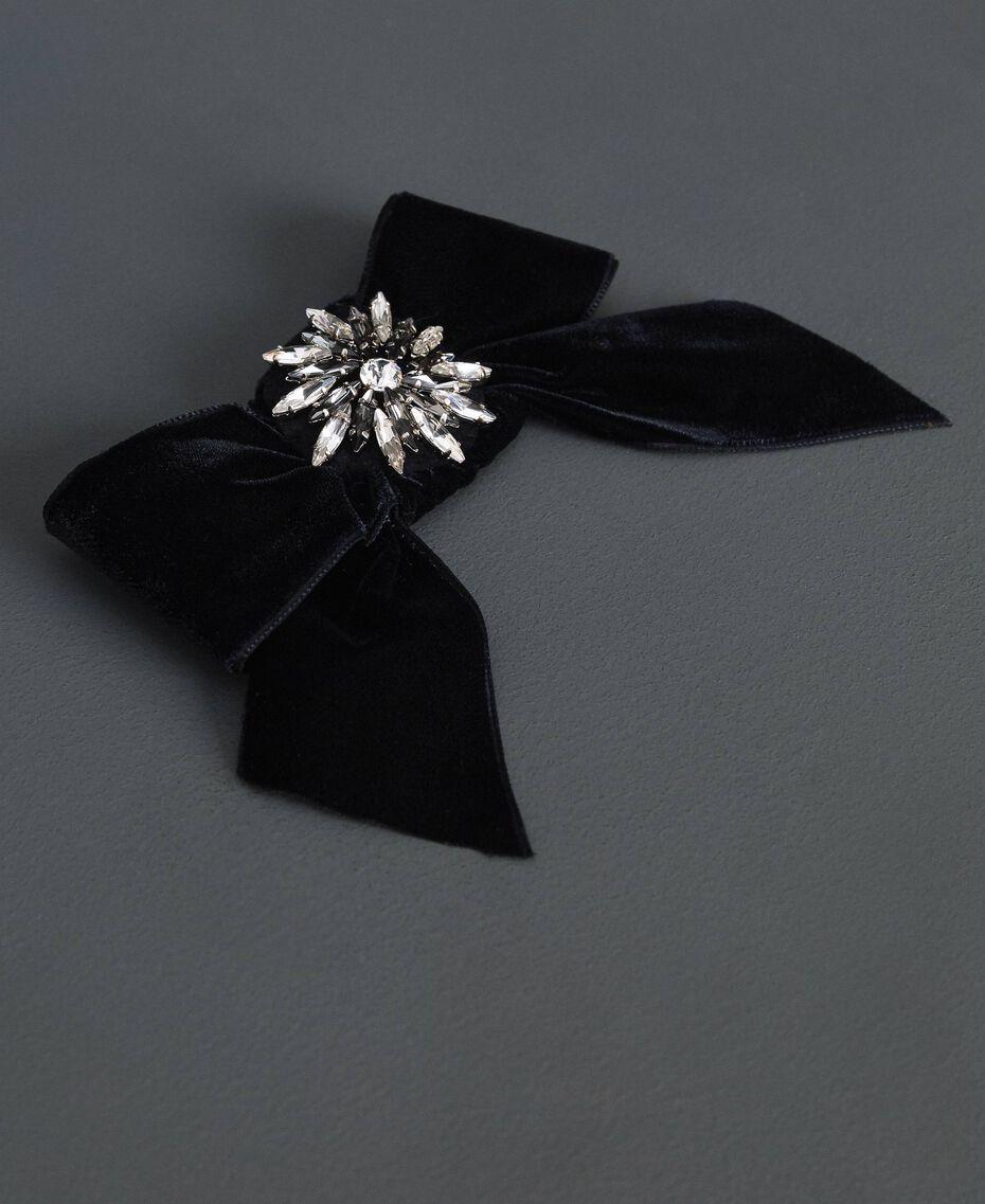 Manteau en drap avec dentelle Noir Femme 192TP2314-06