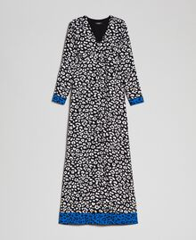 Long animal print dress Black / Lily Animal Print Woman 192MP2370-0S