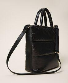 Стеганая сумка-шоппер с логотипом Черный женщина 202MO8021-04