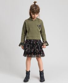 """Butterfly patch hoodie """"Alpine"""" Green / Camouflage Print Child 192GJ2560-02"""
