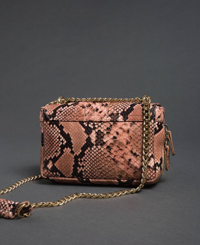 "Small Rebel shoulder bag with python print ""Anthracite"" Grey Python Print Woman 192TA7231-04"
