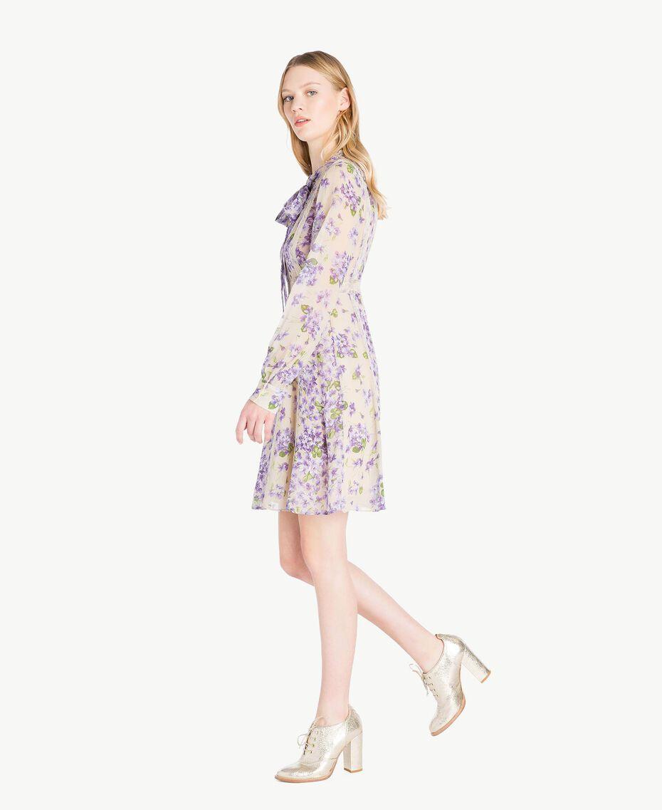 Kleid mit Print Printmix Veilchenlila Frau PS82X1-02
