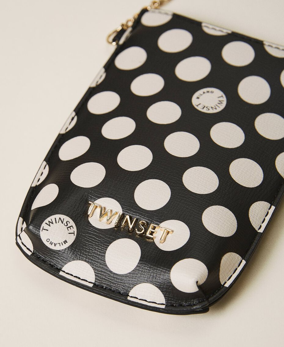 Faux leather phone holder Black Woman 202TD8118-03