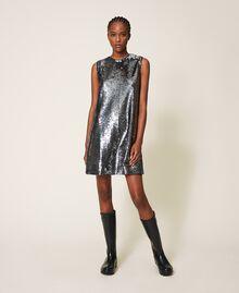 Платье, полностью украшенное пайетками Серый Оружейный ствол женщина 202ST2140-0T