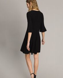 Knit dress with lurex stripes Black Woman 191TP3250-03
