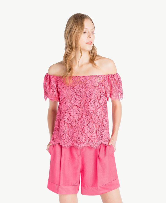 Oberteil aus Spitze Provocateur Pink Frau TS828S-01