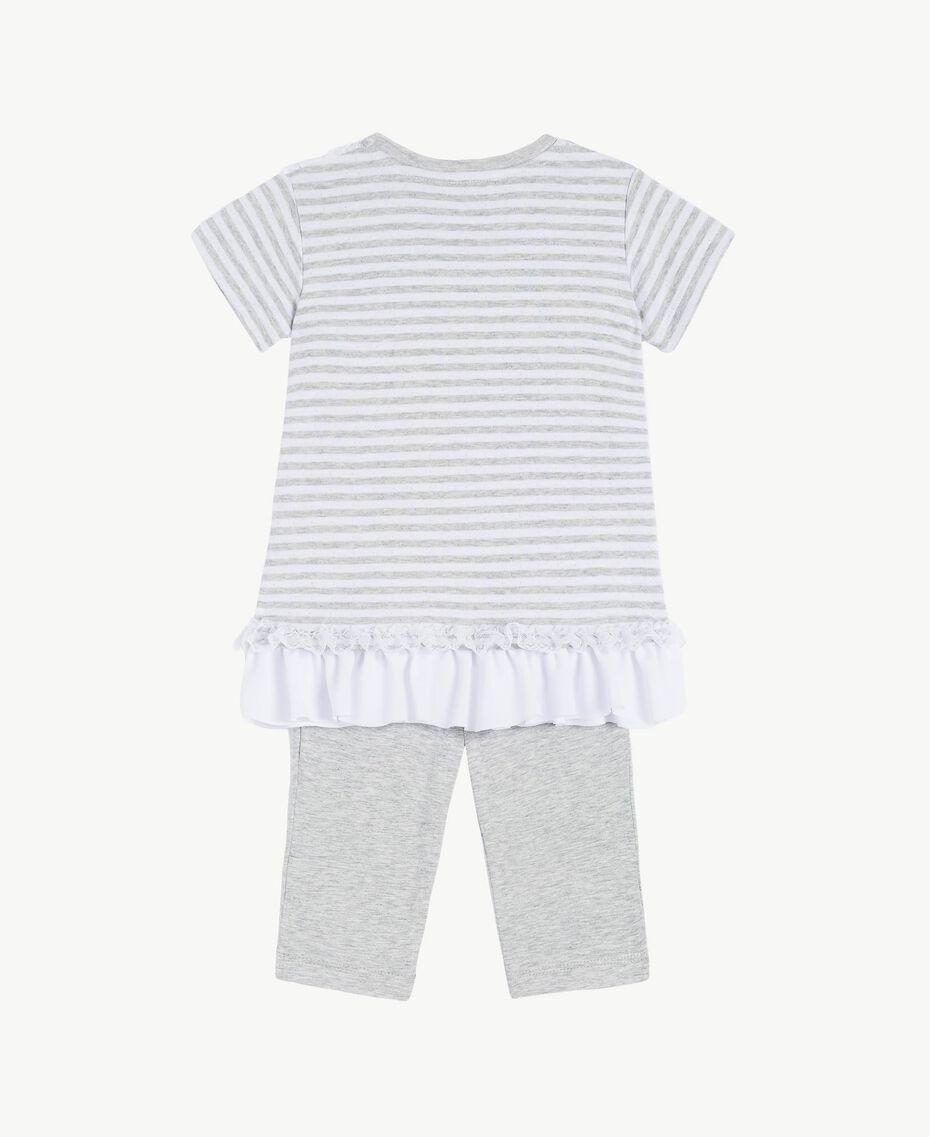"Embroidered set ""Papyrus"" White / Melange Grey / Chantilly Child FS82UB-02"