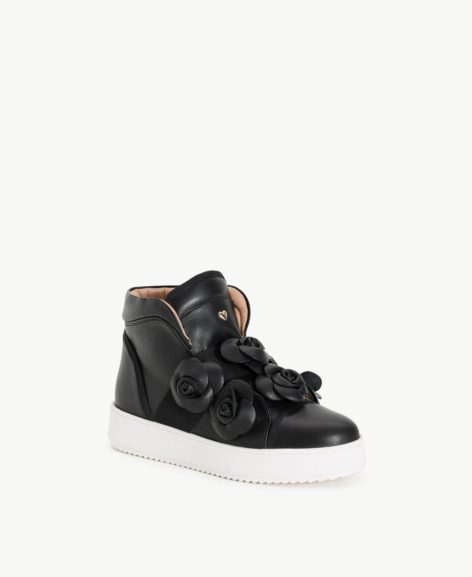 TWINSET Flower sneakers Black Woman CS8PJW-02