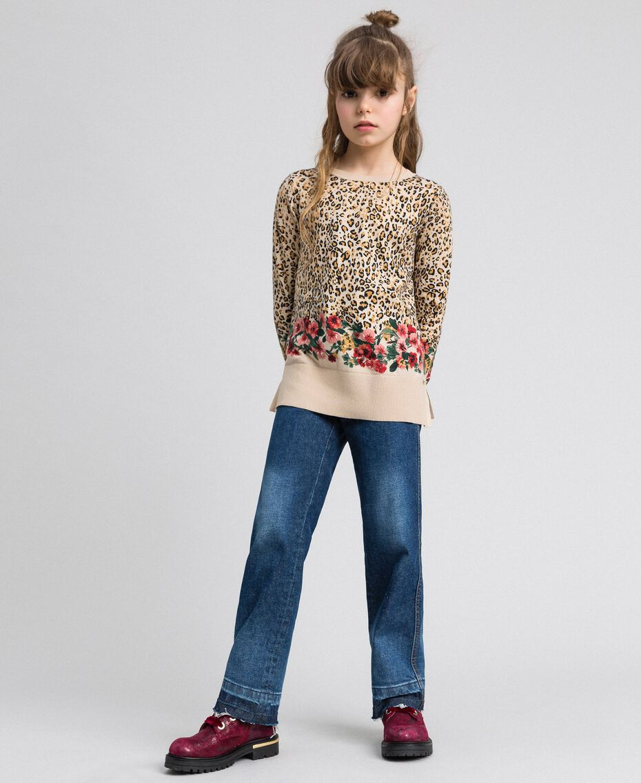 Jeans fatigue con tasche Denim Medio Bambina 192GJ2540-0T