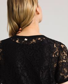 Lace dress with slip Black Woman 192MP2490-04